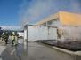 Požar montažne garaže